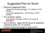 suggested plan for south