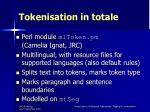 tokenisation in totale