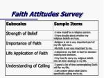 faith attitudes survey