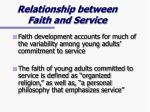 relationship between faith and service