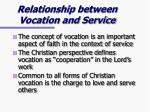 relationship between vocation and service