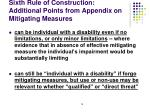 sixth rule of construction additional points from appendix on mitigating measures