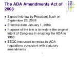 the ada amendments act of 2008