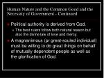 human nature and the common good and the necessity of government continued10
