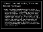 natural law and justice from the summa theologica