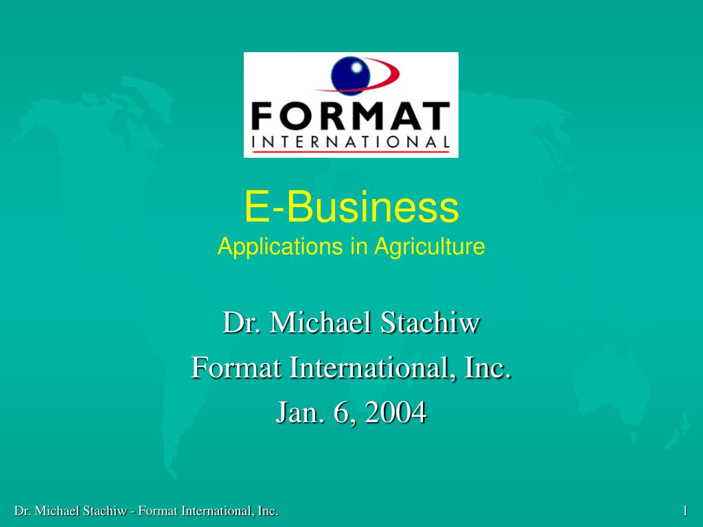 e business applications in agriculture l.