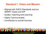 standard 1 vision and mission11