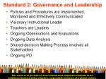 standard 2 governance and leadership