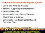 standard 5 resources and support systems32