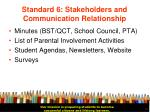 standard 6 stakeholders and communication relationship33