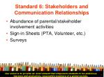 standard 6 stakeholders and communication relationships24