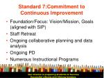 standard 7 commitment to continuous improvement19