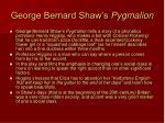 george bernard shaw s pygmalion
