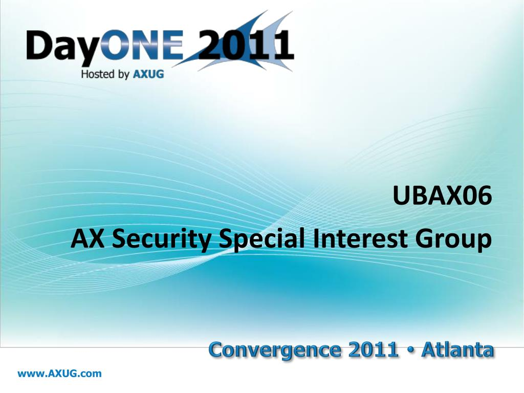 ubax06 ax security special interest group l.