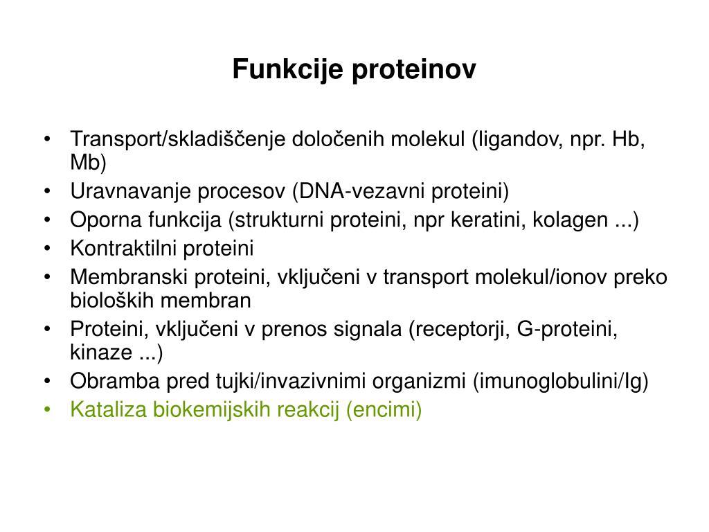 funkcije proteinov l.