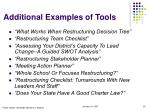 additional examples of tools