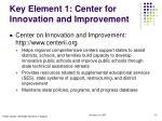 key element 1 center for innovation and improvement