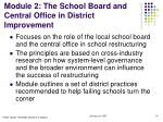module 2 the school board and central office in district improvement