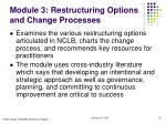 module 3 restructuring options and change processes