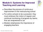 module 6 systems for improved teaching and learning