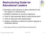 restructuring guide for educational leaders