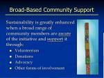 broad based community support