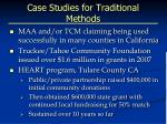 case studies for traditional methods
