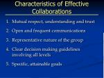 characteristics of effective collaborations
