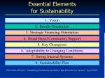essential elements for sustainability