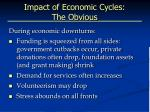 impact of economic cycles the obvious