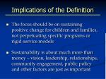 implications of the definition