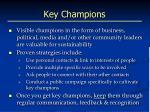 key champions