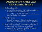 opportunities to create local public revenue streams