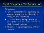 social enterprises the bottom line