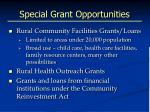 special grant opportunities
