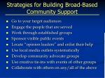 strategies for building broad based community support