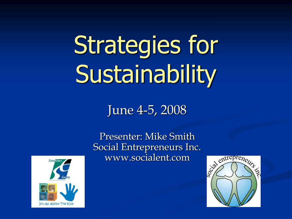 strategies for sustainability l.