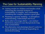 the case for sustainability planning