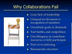 why collaborations fail