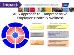 acs approach to comprehensive employee health wellness
