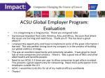 acsu global employer program evaluation