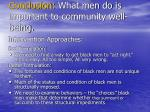 conclusion what men do is important to community well being