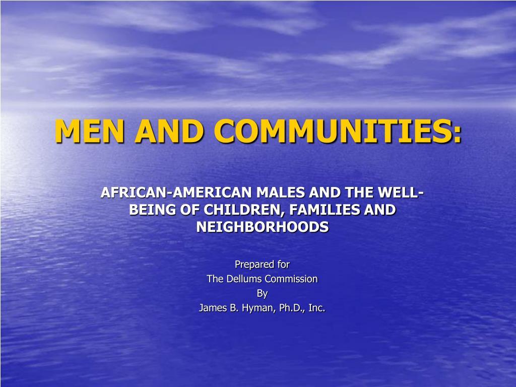men and communities l.