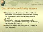 classification and rating systems
