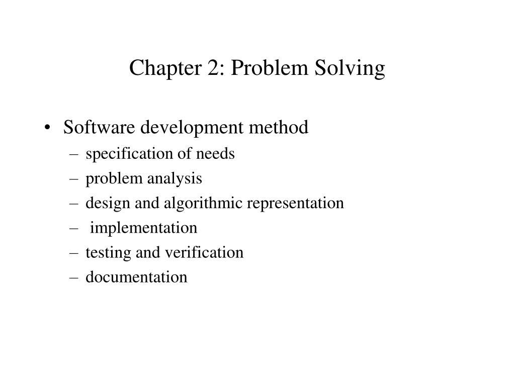 chapter 2 problem solving l.