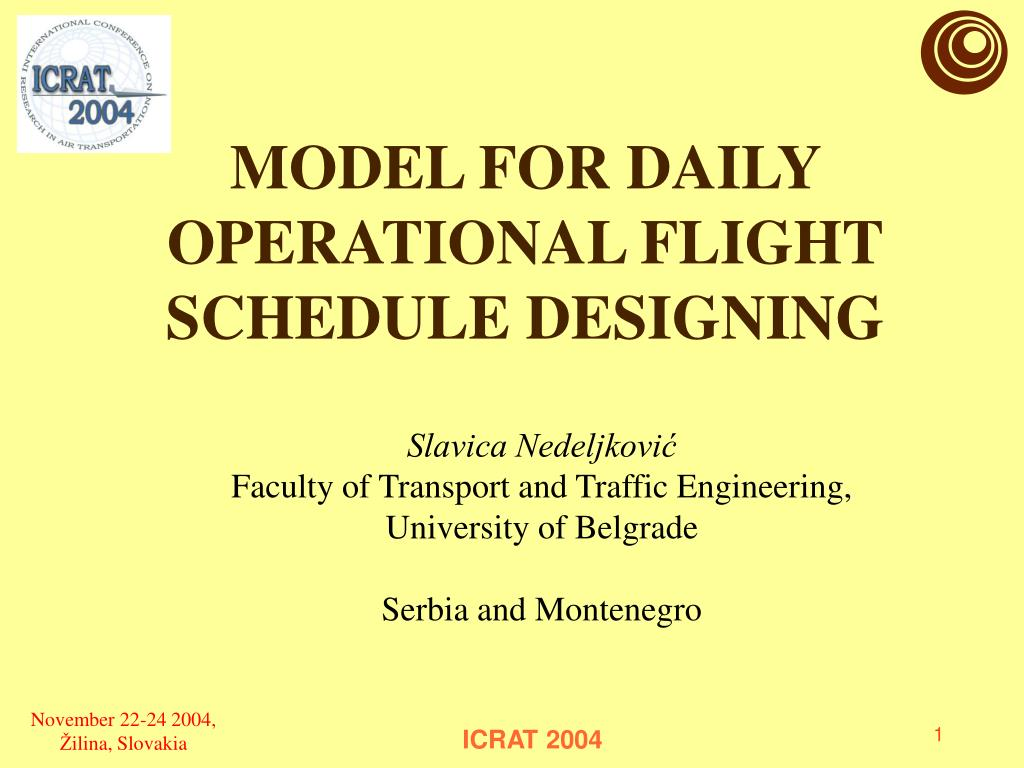 model for daily operational flight schedule designing l.