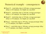 numerical example consequences