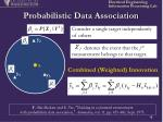 probabilistic data association