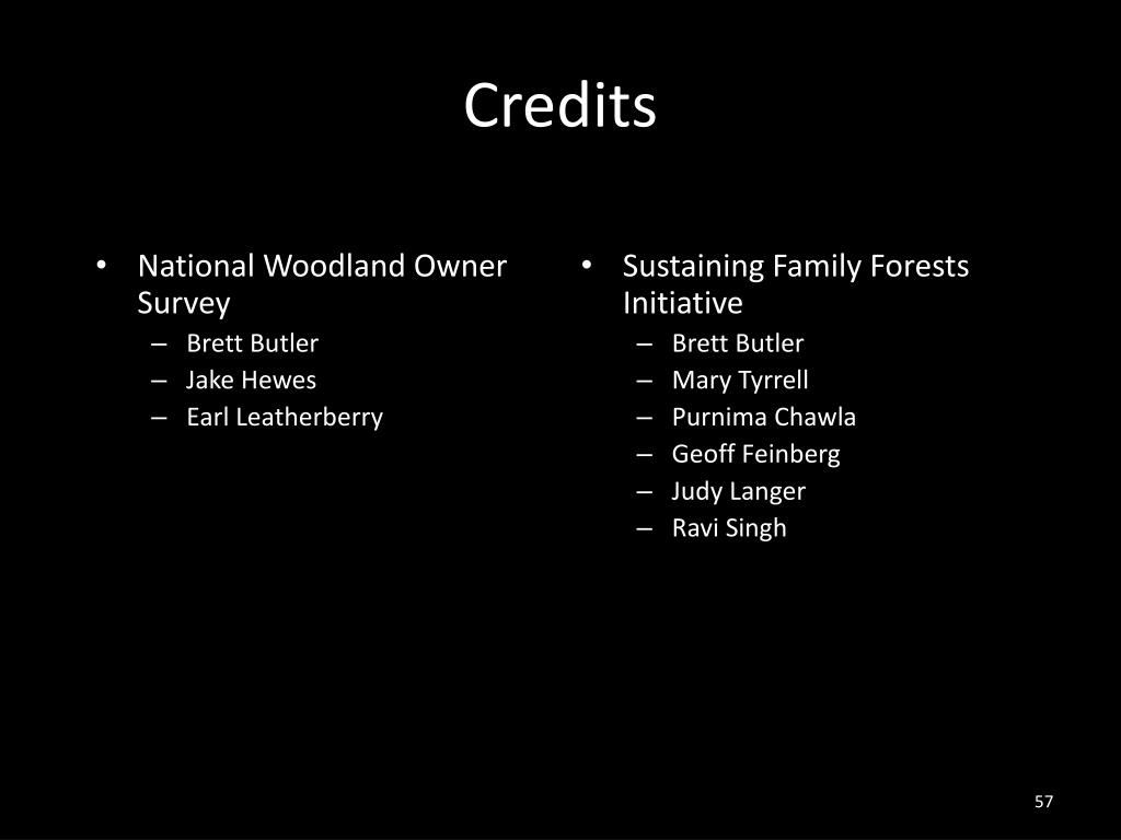 National Woodland Owner Survey