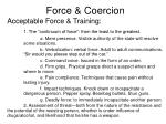 force coercion